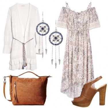 Outfit L\'abito fiori e pizzi