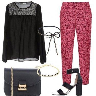 Outfit Il pantalone maculato