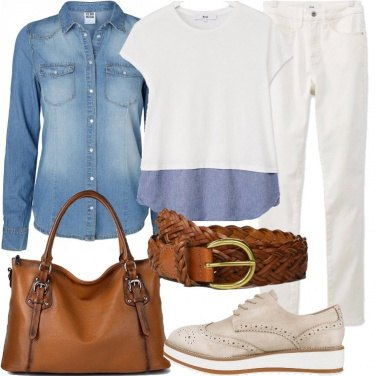 Outfit Scegli la borsa in cuoio