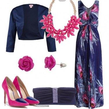 Outfit In blu e fucsia