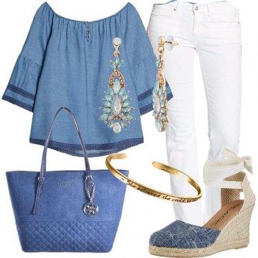Outfit Bianco e denim