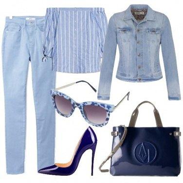 Outfit Solo azzurro e blu