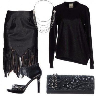 Outfit Splendente in nero