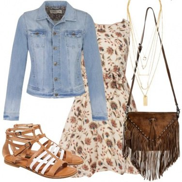 Outfit Sandali flat in pelle