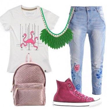 Outfit Fenicottero rosa