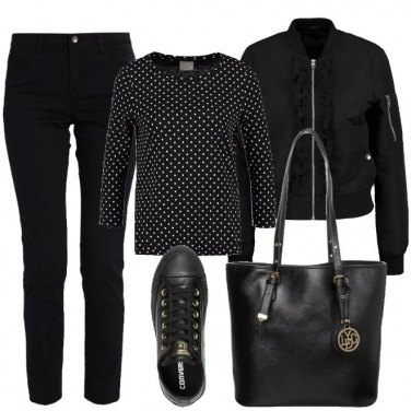 Outfit Il total black casual