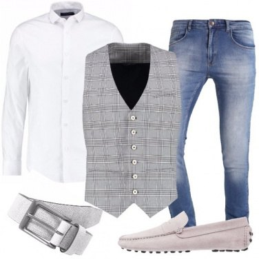 Outfit Jeans e gilet