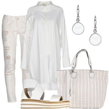 Outfit Bianco casual