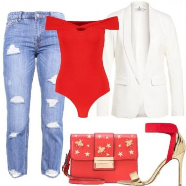 Outfit Il body rosso