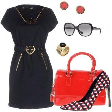 Outfit Cuori rossi cuori blu