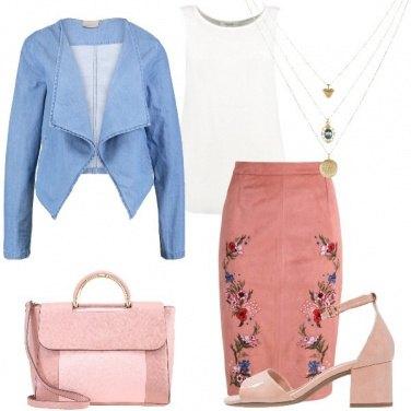 Outfit Il confort del tacco medio