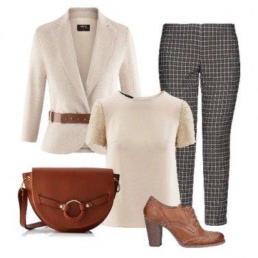 9fbc9d001f Outfit donna - Rigorosa in ufficio!. Stile Bon Ton per Ufficio. Abbinamento  con