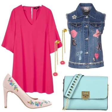 Outfit Labbra rosa