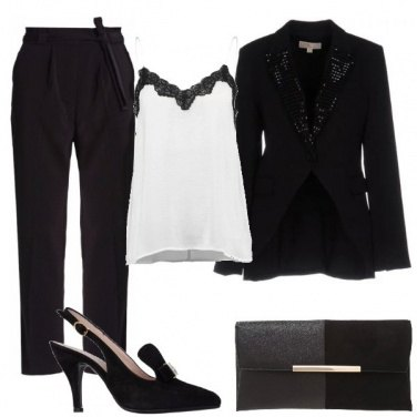 Outfit Revers di strass
