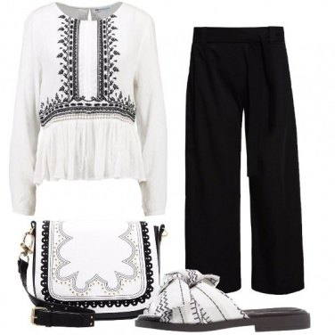 Outfit Boho chic in pantaloni
