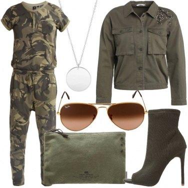 Outfit La jumpsuit militare