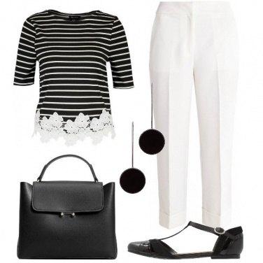 Outfit Righe romantiche