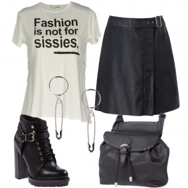 Outfit Slogan rock