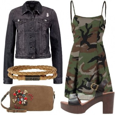Outfit Stasera camouflage