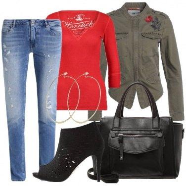Outfit La giacca in stile militare