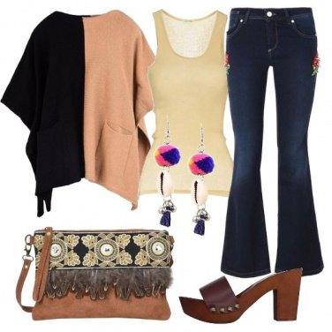 Outfit La borsa con le piume