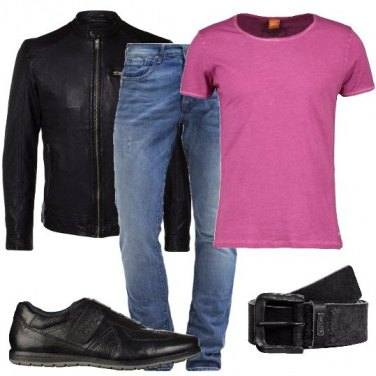Outfit Pelle e jeans