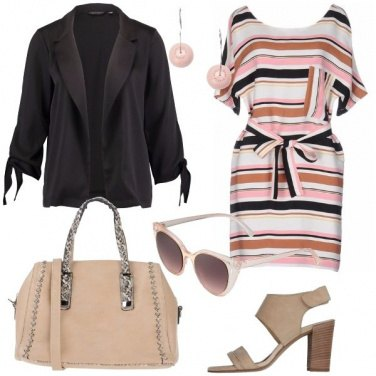 Outfit L\'abito a righe