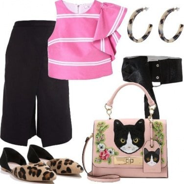 Outfit Rosa ed animalier