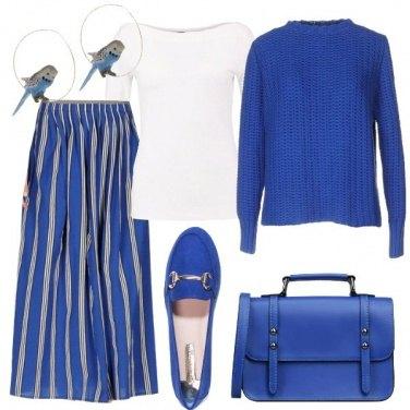 Outfit Bluette e bianco