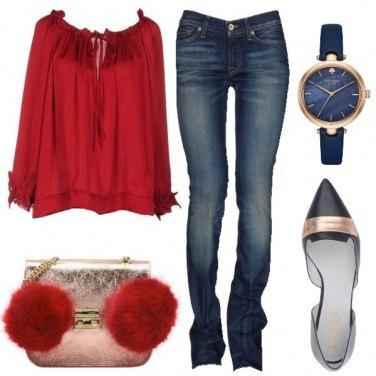Outfit La borsetta con i pompon