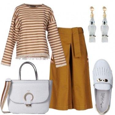 Outfit Ocra e bianco