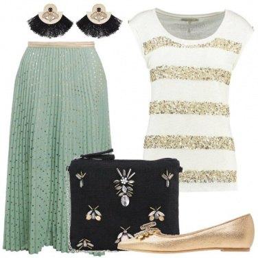 Outfit Con i pois dorati