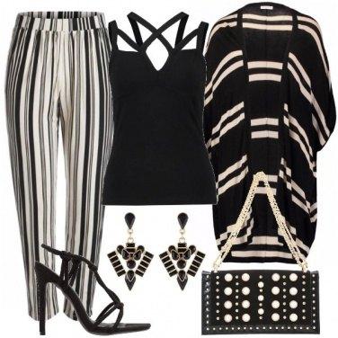 Outfit Incroci di righe
