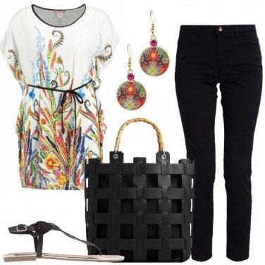 Outfit Glamour con i sandali bassi