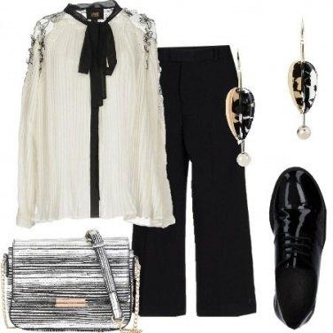 Outfit Camicia plissettata