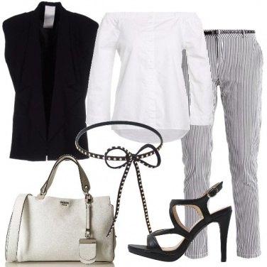 Outfit Lo scollo smanicato