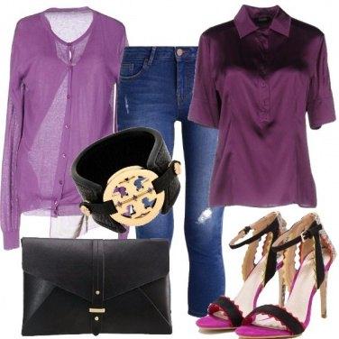 Outfit Violetta di sera