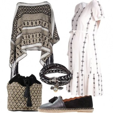 Outfit Boho chic premaman