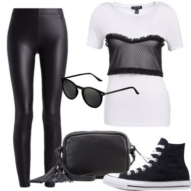 Outfit Nero e bianco