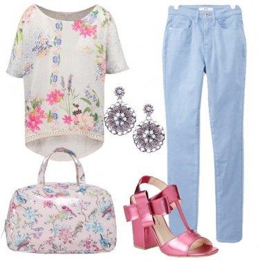Outfit Floreale da giorno