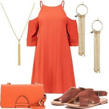 Outfit Caldo arancione