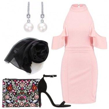 Outfit Il tubino rosa