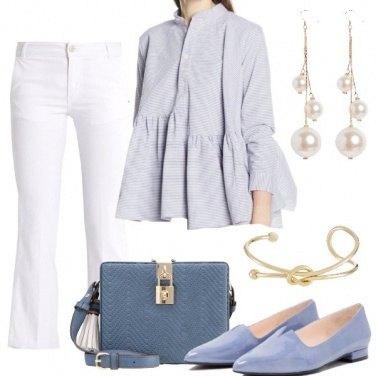 Outfit Bon ton in pantalone e camicia