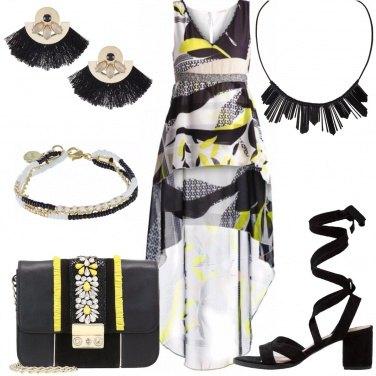 Outfit Cerimonia in giallo e nero