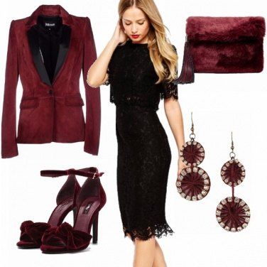 Outfit Pizzo&burgundy