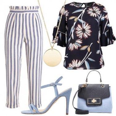 Outfit Righe e fiori conveniente