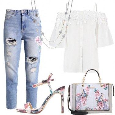 Outfit Camicetta con merletto