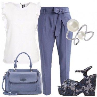 Outfit Un pantalone con il fiocco