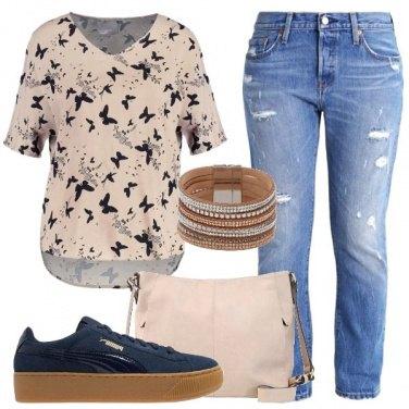 Outfit Oggi con le farfalle