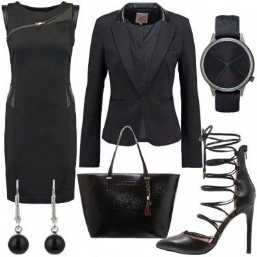Outfit Ufficio total black